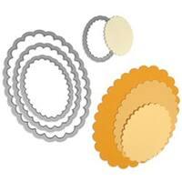 Scallop Ovals - Sizzix Framelits Dies 4/Pkg