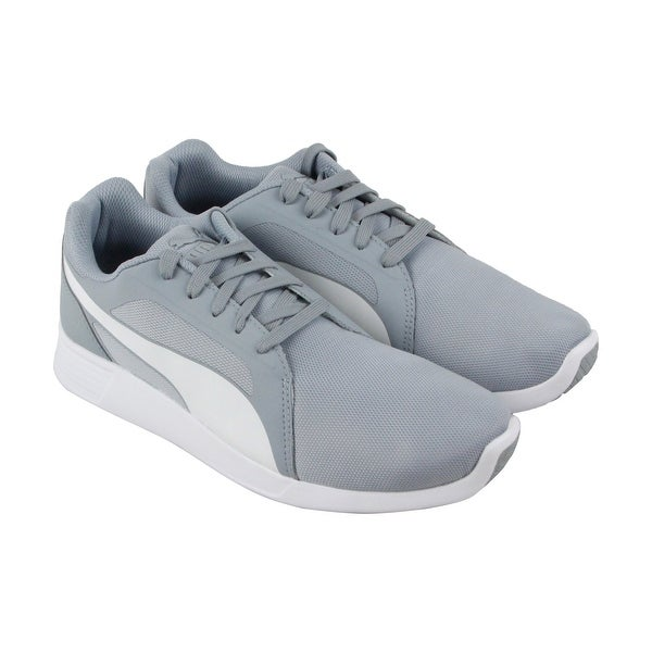 Puma St Trainer Evo Mens Gray Mesh Athletic Lace Up Running Shoes