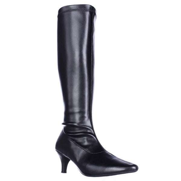 Aerosoles Afterward Pointed Toe Knee High Dress Boots, Black