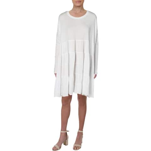 We The Free Womens Rory Tunic Top Tiered Oversized - Painted White - M/L