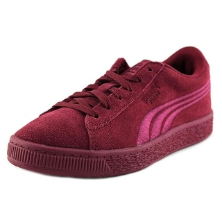 Puma Suede Classsic Badge Ps Round Toe Suede Sneakers