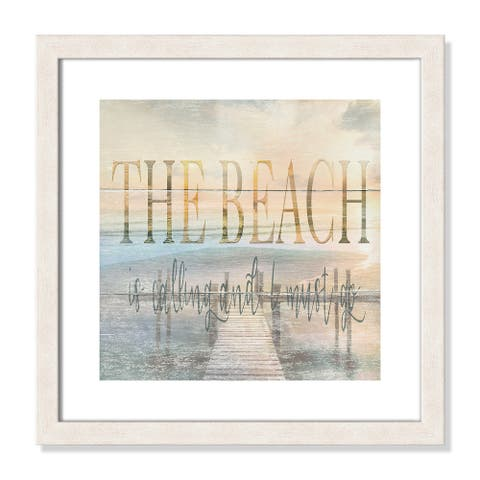 The Beach is Calling - 17.5'' x 17.5''
