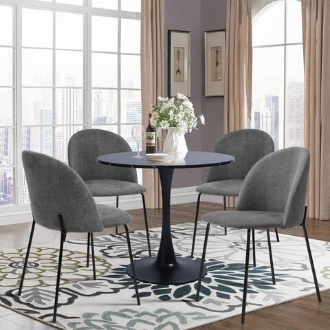 Furniture R 5-Piece Modern Round Dining Set