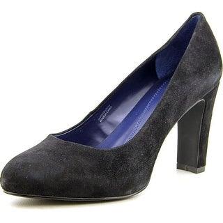 Tahari Dolly Round Toe Suede Heels