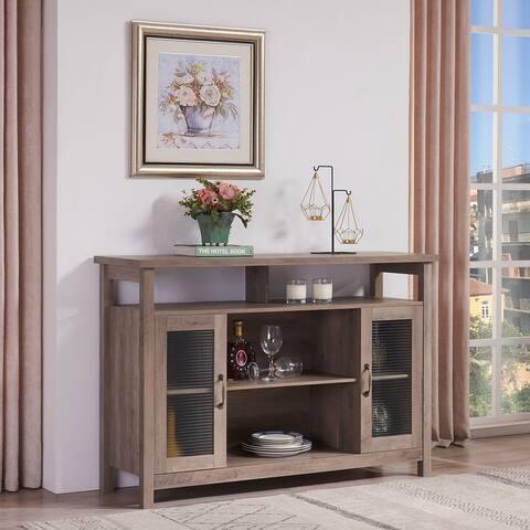 52-inch Farmhouse Wood Buffet Storage Cabinet