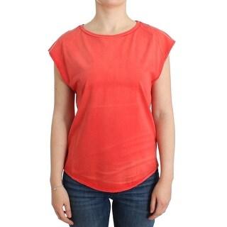 Balmain Balmain Orange cap sleeve cotton t-shirt
