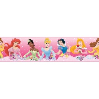 "RoomMates RMK1526BCS 5"" x 180"" - Disney Dream From the Heart - Self-Adhesive Rep - N/A"