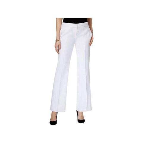 Nine West Womens The Neo Classic Dress Pants Linen Straight Leg