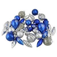 36 - Piece Collection Asymmetrical Christmas Ornament Set, Blu