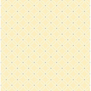 Brewster 2625-21842 Kinetic Yellow Geometric Floral Wallpaper
