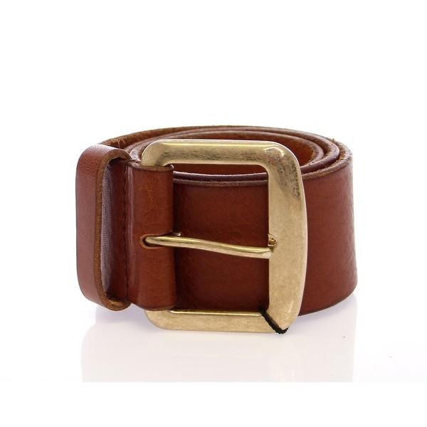 Dolce & Gabbana Dolce & Gabbana Brown Leather Logo Belt - 65-cm-26-inches