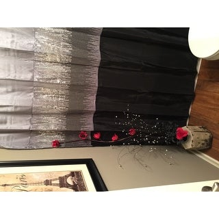 Lush Decor Night Sky Black / Grey Shower Curtain