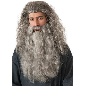 The Hobbit Gandalf Beard Movie Halloween Accessory Kit - One Adult Size