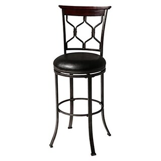 26 in. Tallahassee Metal Counter Stool with Black Upholstered