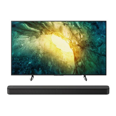 "Sony KD-55X750H 55"" 4K UHD HDR Smart LED TV and HT-S100F Bundle - Black"