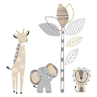 Link to Lambs & Ivy Jungle Safari Gray/Tan Elephant/Giraffe Nursery Wall Decals/Stickers Similar Items in Wall Decor