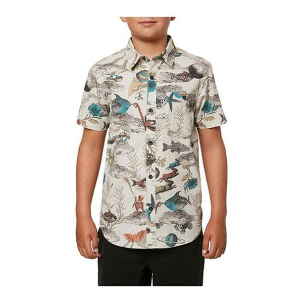 ONEILL Boys Big Button Front Collared Polo Shirt
