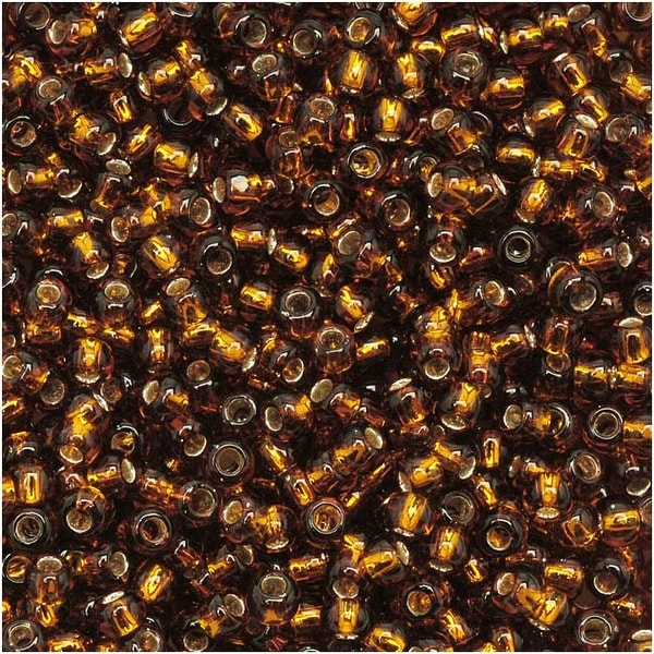Toho Round Seed Beads 11/0 34 'Silver Lined Smoky Topaz' 8 Gram Tube. Opens flyout.