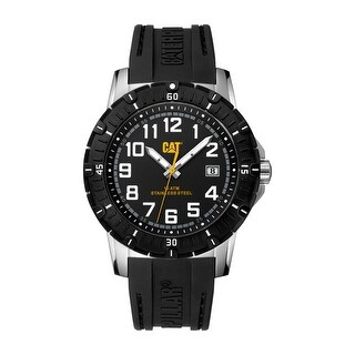 Caterpillar PV1 Mens Rubber Strap Watch