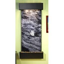 Adagio Inspiration Falls Wall Fountain Spider Black Marble Blackened Copper - IF
