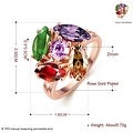 5 Piece Multi Gem Rose Gold Plated Ring - Thumbnail 2