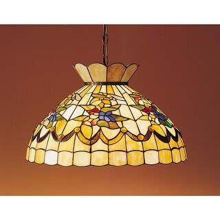 "Meyda Tiffany 31219 Single Light 20"" Wide Pendant with Handmade Shade"