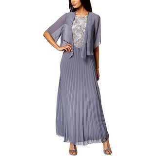 SLNY Womens Dress With Cardigan 2PC Special Occasion