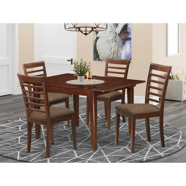 Mila Mahogany 5 Piece Dinette Dining Table Set Overstock 14366561