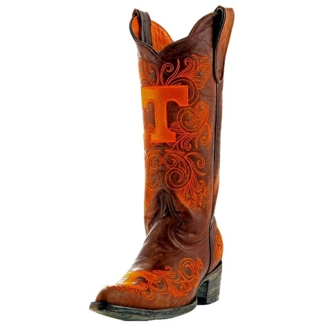 Gameday Boots Womens College Tennessee Volunteers Brass