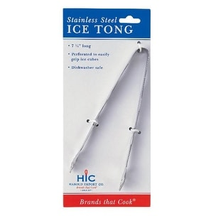 HIC 1157C Ice Tong, Stainless Steel, 7-1/4""