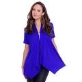 Simply Ravishing Women's Basic Short Sleeve Open Cardigan (Size: Small-5X) - Thumbnail 9