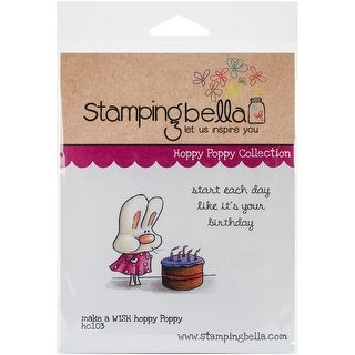 "Stamping Bella Cling Stamp 6.5""X4.5""-Make A Wish Hoppy Poppy"