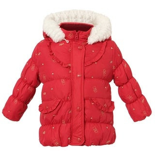 Richie House Girls' Sweet Padding Jacket with Detachable Hood