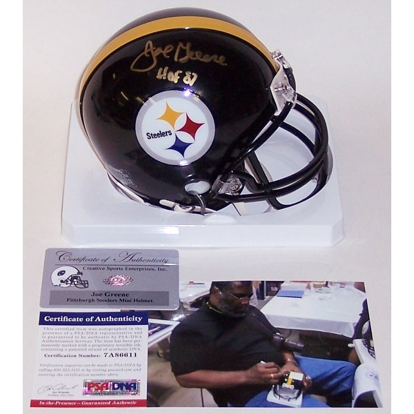 8bb383bc0 Shop Joe Greene Autographed Hand Signed Steelers Mini Helmet - PSA DNA -  Free Shipping Today - Overstock - 12905245