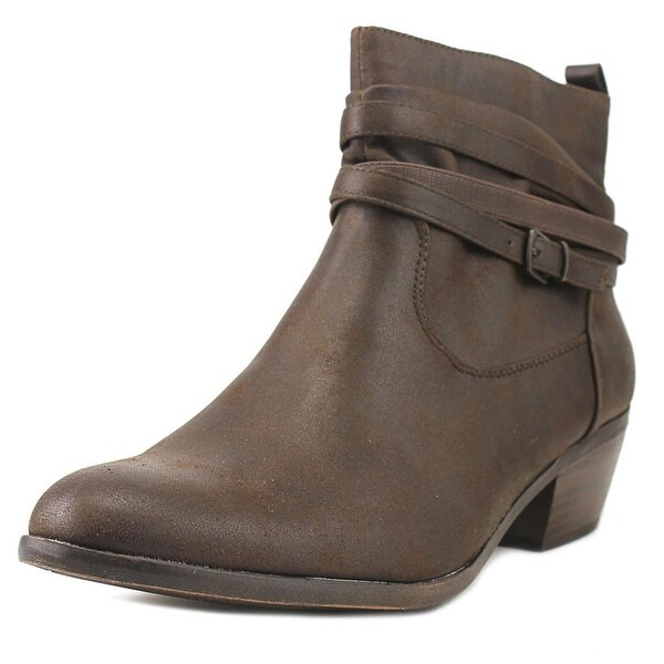 Kim Rogers Pamila Women Round Toe Synthetic Brown Bootie