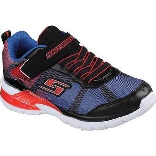 Skechers Boys' S Lights Erupters II Lava Waves Sneaker Black/Red/Blue