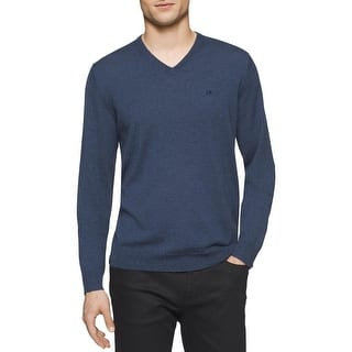 Calvin Klein Mens Pullover Sweater Merino Wool Heathered|https://ak1.ostkcdn.com/images/products/is/images/direct/7353c047547f2b142dccd6047f6d1536e0411541/Calvin-Klein-Mens-Pullover-Sweater-Merino-Wool-Heathered.jpg?impolicy=medium