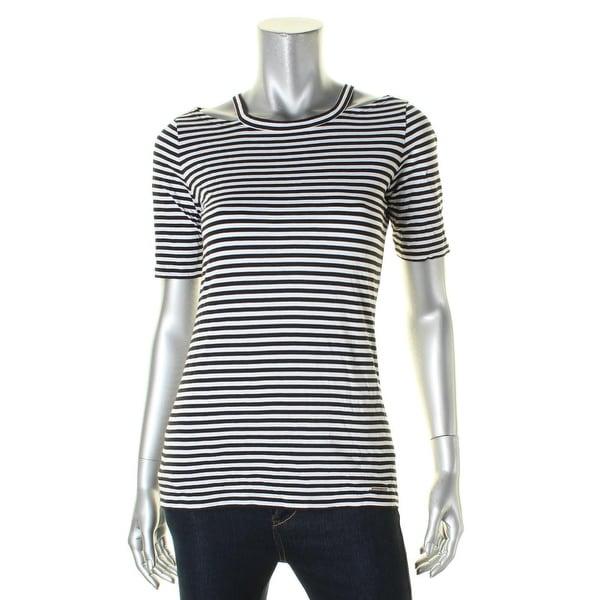 1c4787900 Shop MICHAEL Michael Kors Womens T-Shirt Detached Neck Striped ...