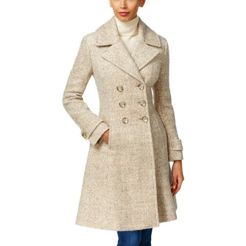 Ivanka Trump Womens Pea Coat Winter Wool Blend