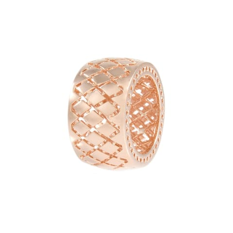Forever Last 18 kt Gold Plated Women's Honeycomb Ring