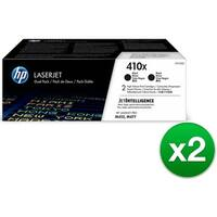 HP 410X Black Original LaserJet Toner Dual Cartridge (CF410XD)(2-Pack)