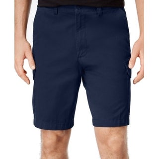 Geoffrey Beene NEW Navy Blue Mens Size 33 Classic Fit Cargo Shorts