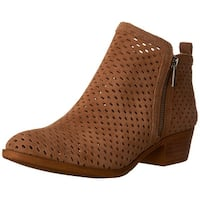 Lucky Brand Womens Basel3 Leather Almond Toe Ankle Fashion Boots