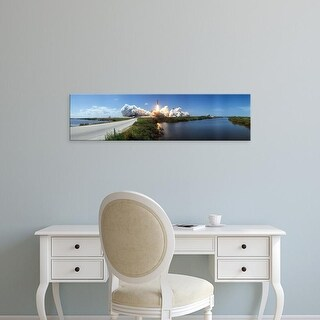 Easy Art Prints Panoramic Images's 'Launch, Kennedy Space Center, Florida, USA' Premium Canvas Art