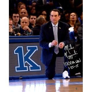 Mike Krzyzewski signed Duke Blue Devils 1000th Win 11X14 Photo 1000th Win 12515 Coach K Steiner Ho