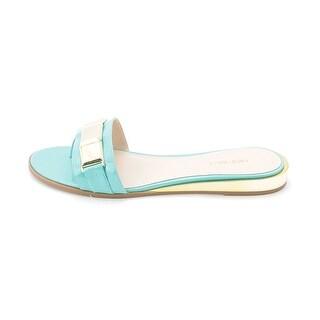 Nine West Womens XTINA Open Toe Casual Slide Sandals