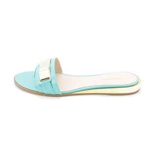 Nine West Womens XTINA Open Toe Casual Slide Sandals