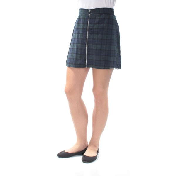 22386e6f0 Shop Womens Dark Green Plaid Casual Skirt Size M - Free Shipping On Orders  Over $45 - Overstock - 21393767
