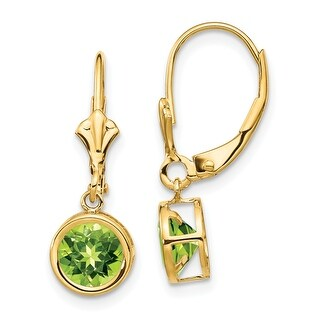 Link to 14K Yellow Gold 6mm Peridot Leverback Earrings by Versil Similar Items in Earrings