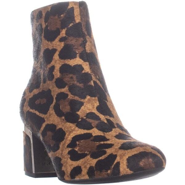 87c7c3b4439 Shop DKNY Corrie Ankle Boots, Leopard - 7 US / 37.5 EU - Free ...
